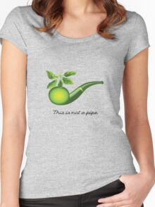 Magritte Parody Women's Fitted Scoop T-Shirt