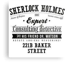Sherlock Holmes Expert Metal Print