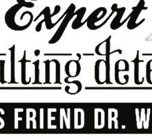 Sherlock Holmes Expert Sticker