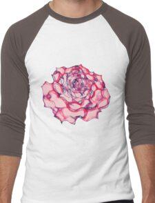 Rose Scribbler - T Men's Baseball ¾ T-Shirt