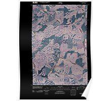 USGS Topo Map Washington State WA Thornton 20110401 TM Inverted Poster