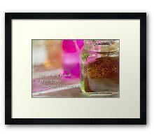 Sunshine and Spice Framed Print