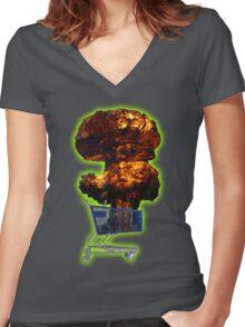 Crack Friday Women's Fitted V-Neck T-Shirt