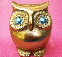 Owl. Pink. by Shara