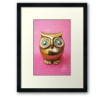 Owl. Pink. Framed Print