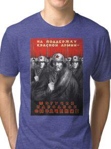 World War II Propaganda Poster – Soviet  Tri-blend T-Shirt