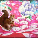 Squirrel. Flower. by Shara