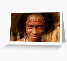Young girl in Bilas Greeting Card