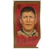 Benjamin K Edwards Collection Charles Phillippe Pittsburgh Pirates baseball card portrait Poster