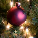 Red Christmas Ornament by Glennis  Siverson