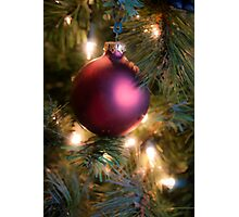 Red Christmas Ornament Photographic Print