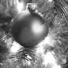 Ornament in Black & White by Glennis  Siverson
