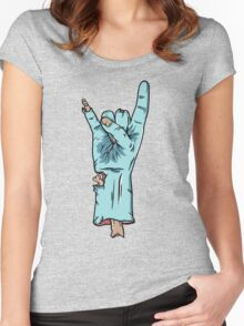 Zombie Love Hand Sign Women's Fitted Scoop T-Shirt