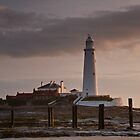 St. Mary's Lighthouse After Sunrise by David Pringle