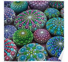 Mandala Stone Collection- Very Berry  Poster