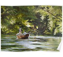 "Original oil painting: ""The Reel Life"" - Tumut, NSW, Australia Poster"