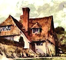 Beautiful Britain - Restalls Cottage, Steep, restored 1905 by Dennis Melling