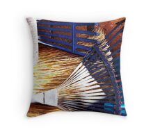 teeth, tines, bristles and blades Throw Pillow