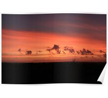 Red Sunset - Anglesey Poster