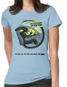 In the car no one can hear you sing. Womens Fitted T-Shirt