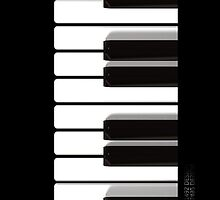 Piano iphone cover by ANDIBLAIR