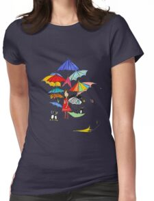 Rain in NYC Womens Fitted T-Shirt