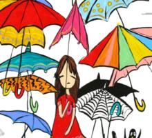 Rain in NYC Sticker