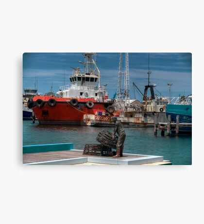 Freo fishing harbour Canvas Print