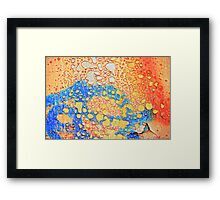 Weathered and peeling Framed Print