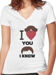 I Love You, I Know Women's Fitted V-Neck T-Shirt