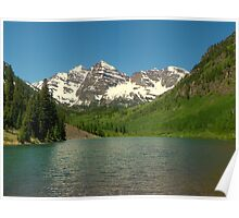 Maroon Lake view of the Bells Poster