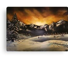 'Winter Sunset' Oil Painting Canvas Print