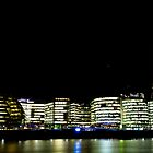 Southbank London Buildings at Night by DavidHornchurch