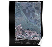 USGS Topo Map Washington State WA Rock Island 20110411 TM Inverted Poster