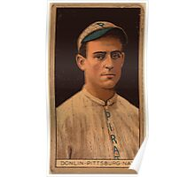 Benjamin K Edwards Collection Mike Donlin Pittsburgh Pirates baseball card portrait Poster