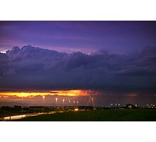 Sunset Strike Photographic Print