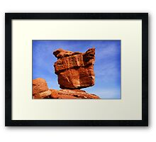 Balanced Rock, Garden of the Gods Framed Print