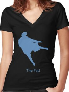 The Reichenbach Fall Women's Fitted V-Neck T-Shirt