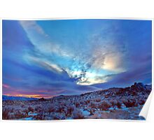 Desert Sunrise with snow Poster