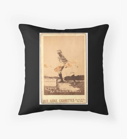 Benjamin K Edwards Collection Denny Lyons St Louis Browns baseball card portrait Throw Pillow