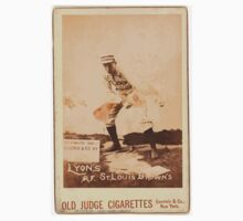 Benjamin K Edwards Collection Denny Lyons St Louis Browns baseball card portrait Baby Tee