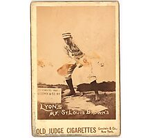 Benjamin K Edwards Collection Denny Lyons St Louis Browns baseball card portrait Photographic Print