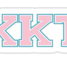Kappa Kappa Tau Letters Sticker
