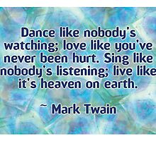 Mark Twain Quote by Dooda Creations