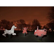 The Park at Night.. Photographic Print