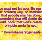 Paramahansa Yogananda Quote by Dooda Creations
