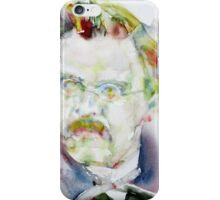 FRIEDRICH NIETZSCHE watercolor portrait.6 iPhone Case/Skin