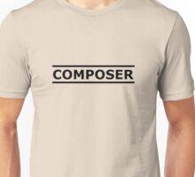 Composer Black Unisex T-Shirt