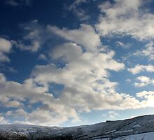 Winter Sky, Long Clough Brook, Glossop by Mark Smitham