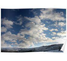 Winter Sky, Long Clough Brook, Glossop Poster